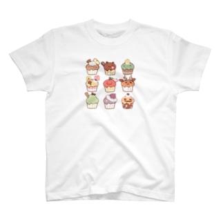 ちとせあめの秋のカップケーキ T-shirts