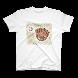 kyonophotoのグローブとボール T-shirts