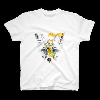Rock catの狐 NINJA CAT 2 T-shirts