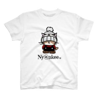 ニット帽なあいつ   (Ny@nkee) T-shirts