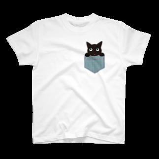 ラインスタンプ♪やっし~ぃのポケネコ T-shirts