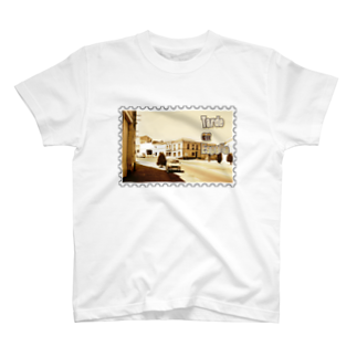 FUCHSGOLDのスペイン:村の昼下がり★白地の製品だけご利用ください!! Spain: Afternoon of village★Recommend for white base products only !! T-shirts