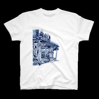 楽どじん@のcafe T-shirts