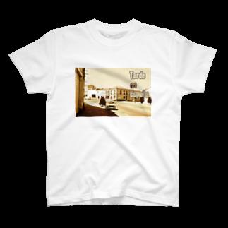 FUCHSGOLDのスペイン:村の昼下がり Spain: Afternoon of village T-shirts