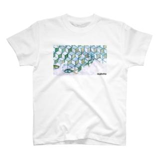 ウヲノメ ブルー T-shirts