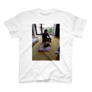 うちの旦那はんとポポ T-shirts