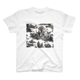 J. Jeffery Print Galleryのトワルドジュイ Toile de Jouy T-shirts