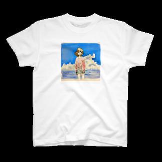 せみSHOPの海とコーラ T-shirts