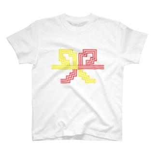 ドット水引(3本花結び) T-shirts