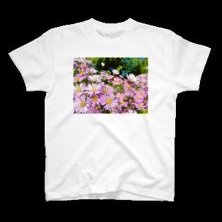 DOLUXCHIC RAYLOのPink flowers  T-shirts
