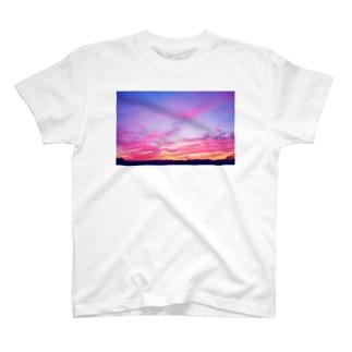 Pink Sunset sky T-shirts