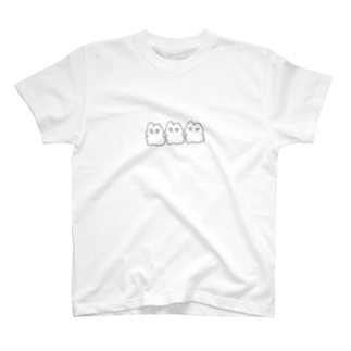 はしもとかとうの3連うさぎ T-shirts