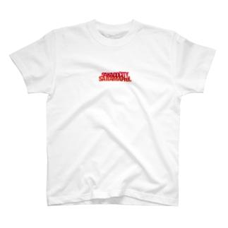 某地方都市Tシャツ赤 T-shirts