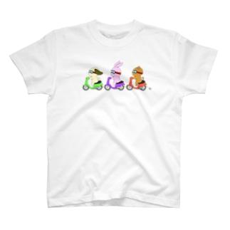 むーのアニマルツーリング T-shirts