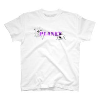 Motonishiのplanet T-shirts