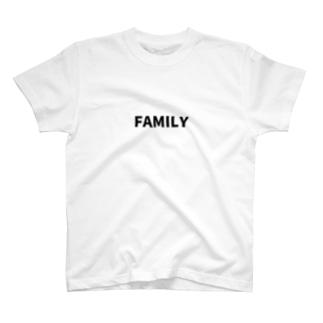 にじマンのFAMILY(黒文字) T-shirts