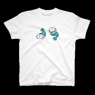 NNのマーメイドの猫 T-shirts