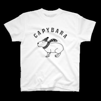 Aliviostaのカピバラ 動物イラスト T-shirts