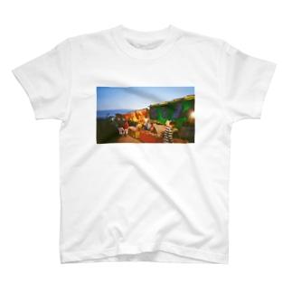 夏祭り 屋台 フィルム写真 T-shirts