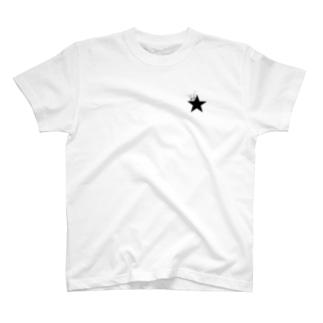 ブラックスター 005(Blackstar 005)with パキポディウム(Pachypodium) T-shirts