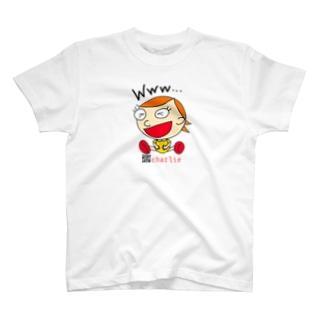 charlolのwww charlie QR T-shirts