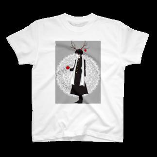 Aa_okomenootooの林檎くんグッズ T-shirts