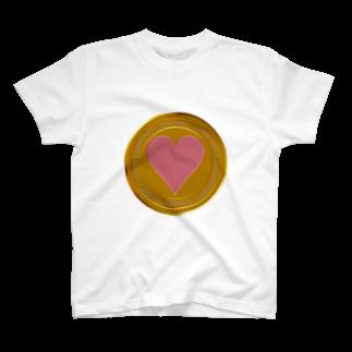 ジェムたん٩(๑òωó๑)۶のLove coin T-shirts