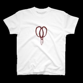 NIKORASU GOの植木職人専用デザイン「植木屋鋏」 T-shirts