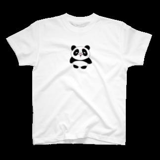 銀鈴堂(ミッドナイトクラブ)のおじさんパンダ たぬ吉 T-shirts