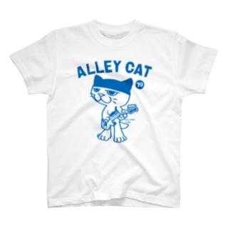 ALLEY CAT 〜ドラ猫モータース ベース/ショベル〜 T-shirts