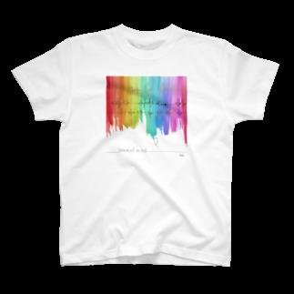 """しろの""""猫""""な雑貨店のsound  of mind T-shirts"""