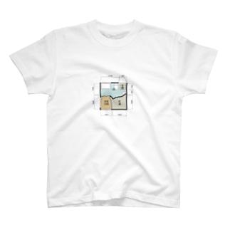 非行少年が設計したマンションの一室Tシャツ T-shirts