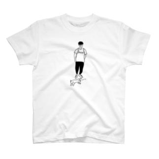 Move ヒトとネコ イラスト T-shirts