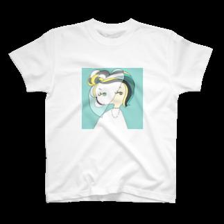 bell_kohinaのDecember Girl-Turquoise T-shirts