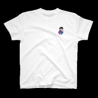 and mick designのプイちゃんとピー助 T-shirts