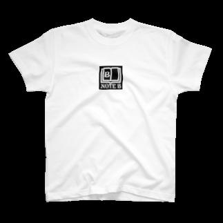 NOTE Bのblack logo T-shirts