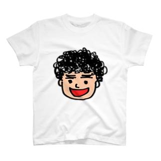 月タン似顔絵 T-shirts