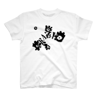 qethapethapのCRAZY FLOWER T-shirts