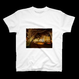 影のある写真とチワワの表参道 T-shirts