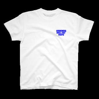 ICHINOMIYACHILLOUTPEEPSのICHINOMIYA CHILLOUT PEEPS OG LOGO (BLUE) T-shirts