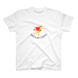 MEKAJIKI STRIKE_vivid T-shirts