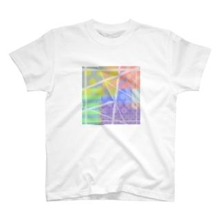 水玉ストライプ T-shirts