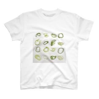 ネギの輪切り T-shirts