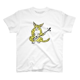 大津絵・猫に三味線 T-shirts