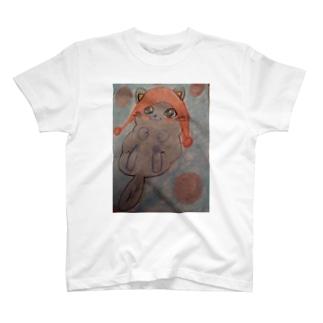 ニット帽猫ちゃん T-shirts