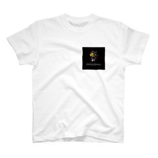 新ZIMOIN FAMILY黒 T-shirts