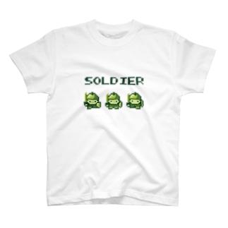 ソルジャー【レトロゲーム風】 T-shirts