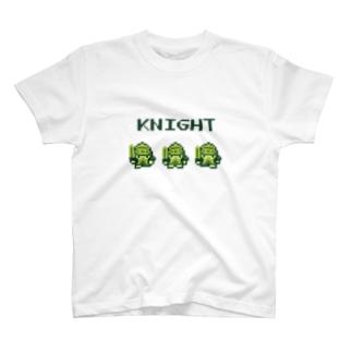 ナイト【レトロゲーム風】 T-shirts