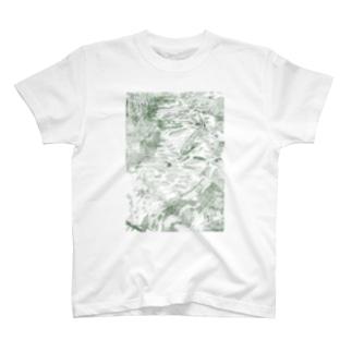 北海道の四季とミヤベイワナ T-shirts