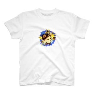 蝶ネクタイをしたネコ T-shirts